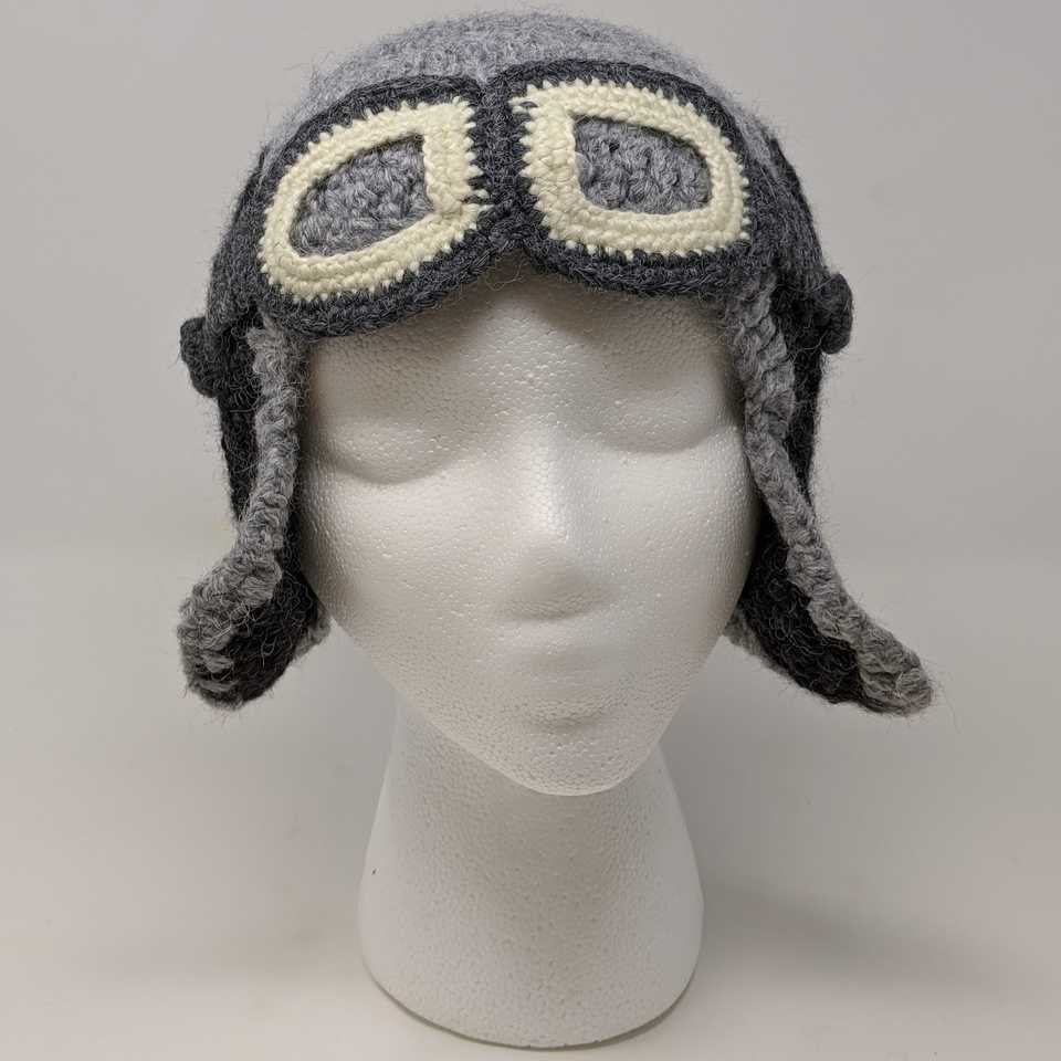Grey Aviator Hat