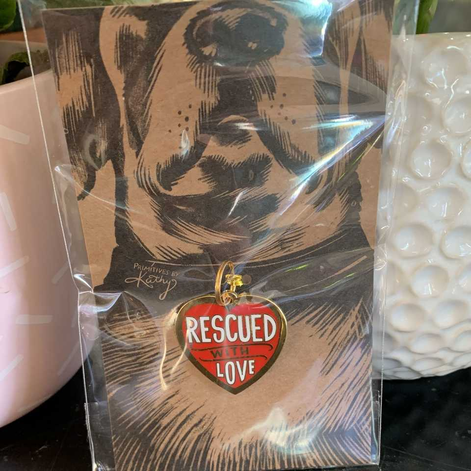 Pet Tag - Rescued with love