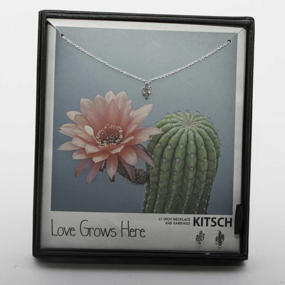Love Grows Here Necklace & Earrings Set