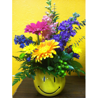 Face Brighten Their Day Bouquet